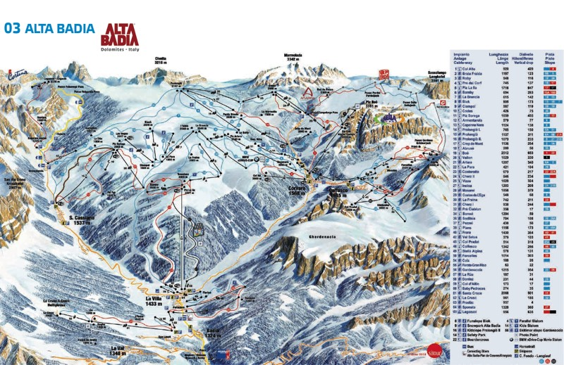 Alta Badia trail map