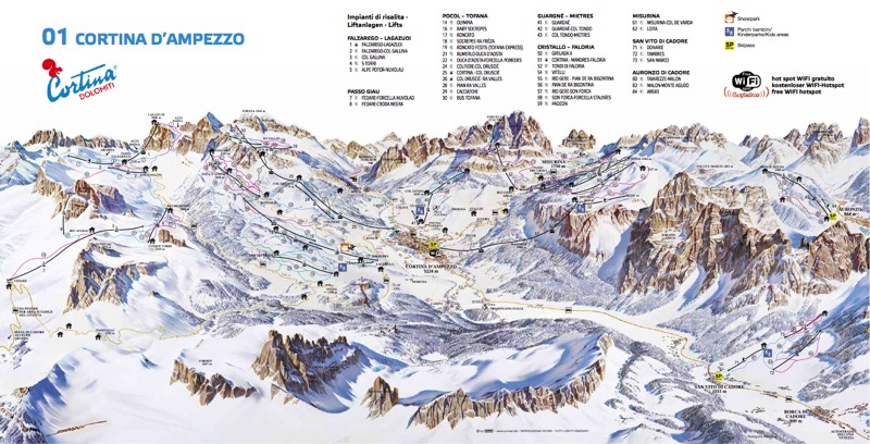 Trail Maps Dolomites Ski Tours