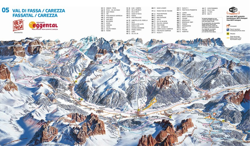 Val di Fassa trail map