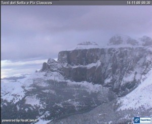 Snow on the Sella Mountain