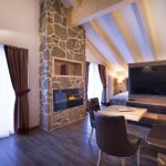 Suite VIP dell'Angelo fireplace