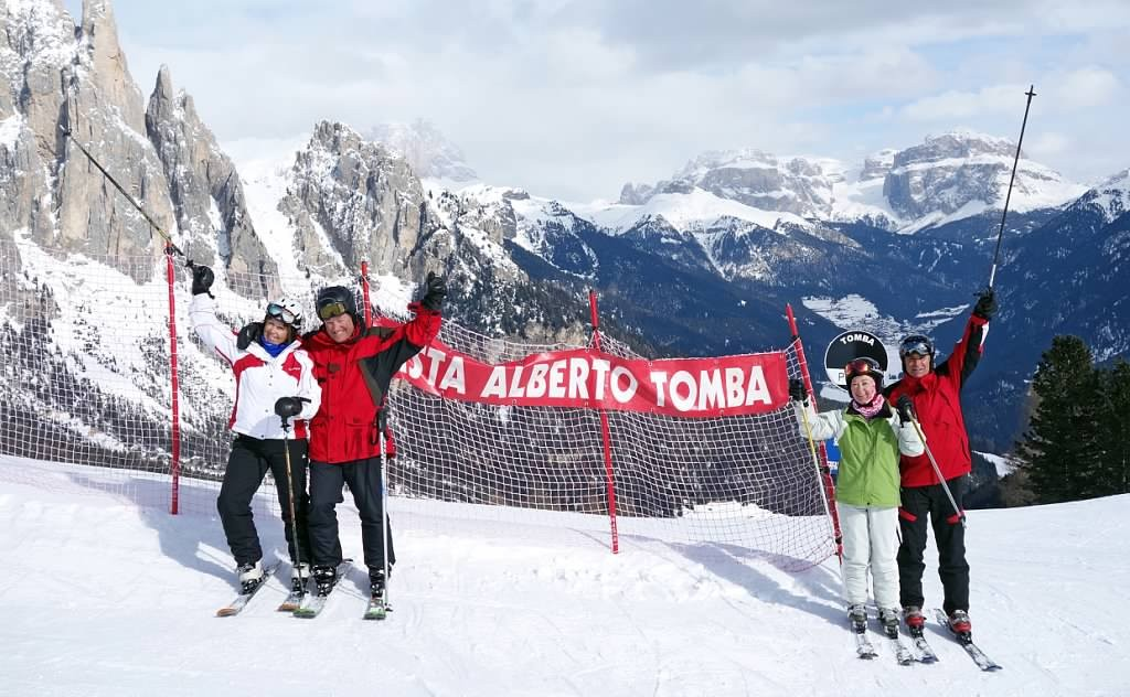 The Alberto Tomba black run in Vigo di Fassa