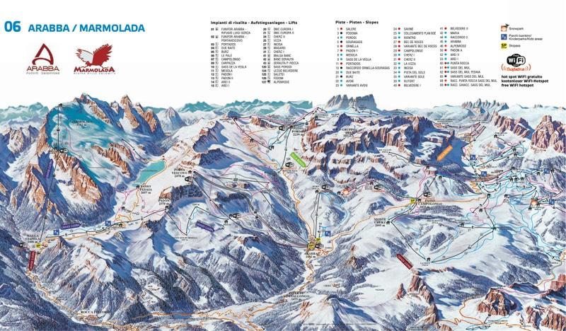 Arabba trail map
