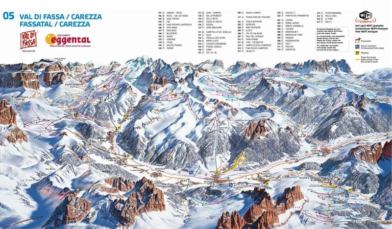 Val di Fassa trail map