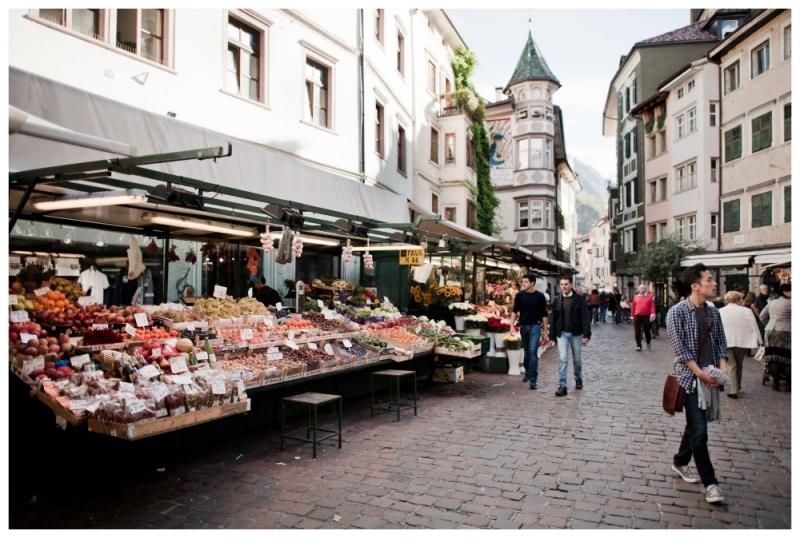 Piazza delle Erbe, photo courtesy of Bolzano Tourist Office