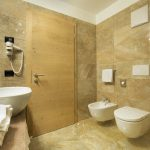 Gold and White Room bathroom